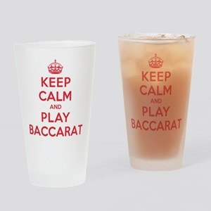 Keep Calm Play Baccarat Drinking Glass