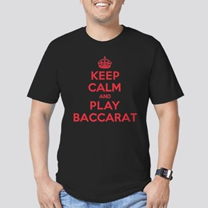 Keep Calm Play Baccarat Men's Fitted T-Shirt (dark