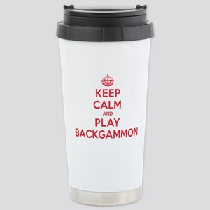 Keep Calm Play Backgammon Stainless Steel Travel M