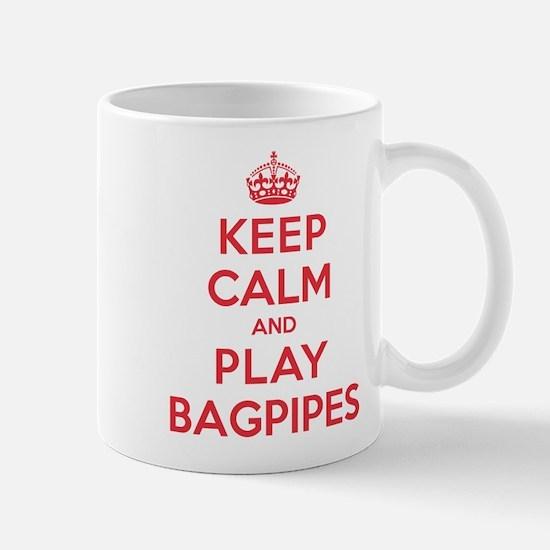 Keep Calm Play Bagpipes Mug