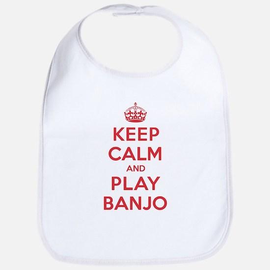 Keep Calm Play Banjo Bib