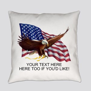 PERSONALIZED AMERICAN FLAG EAGLE S Everyday Pillow