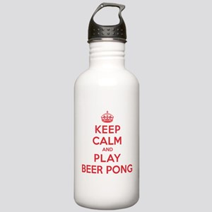 Keep Calm Play Beer Pong Stainless Water Bottle 1.