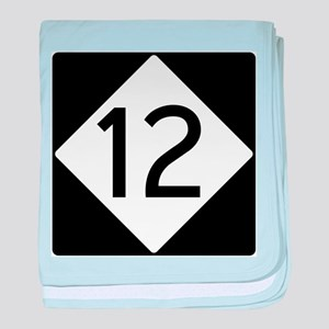 Route 12 baby blanket