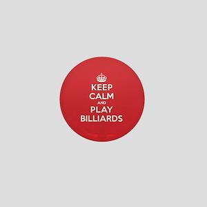 Keep Calm Play Billiards Mini Button