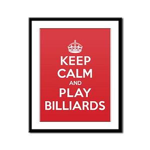 Keep Calm Play Billiards Framed Panel Print