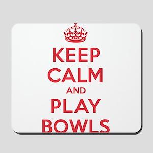 Keep Calm Play Bowls Mousepad