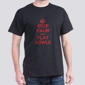 Keep Calm Play Bowls Dark T-Shirt