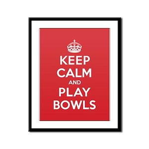 Keep Calm Play Bowls Framed Panel Print