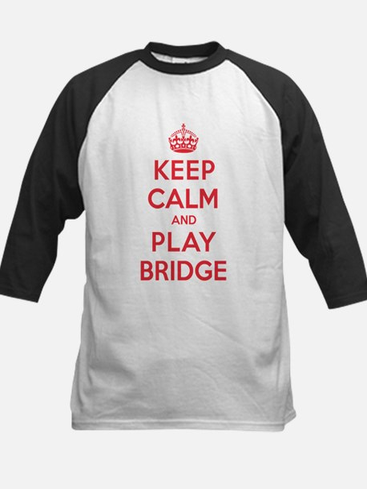 Keep Calm Play Bridge Kids Baseball Jersey