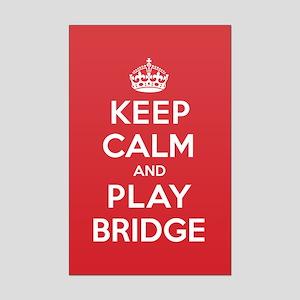 Keep Calm Play Bridge Mini Poster Print