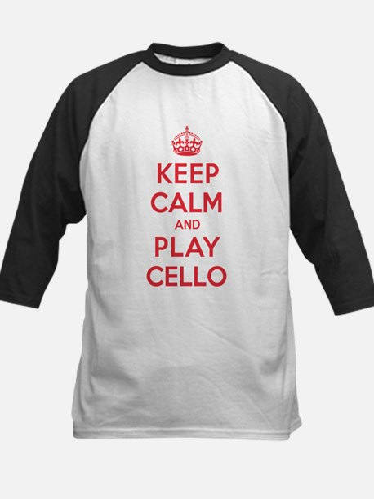Keep Calm Play Cello Kids Baseball Jersey