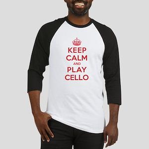 Keep Calm Play Cello Baseball Jersey