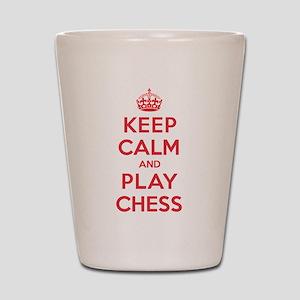 Keep Calm Play Chess Shot Glass