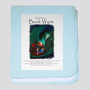 Advice from a Book Wyrm baby blanket