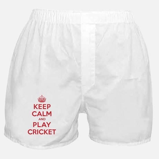 Keep Calm Play Cricket Boxer Shorts