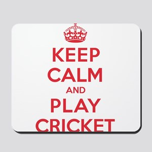 Keep Calm Play Cricket Mousepad