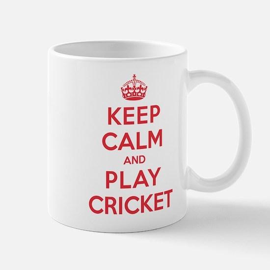 Keep Calm Play Cricket Mug
