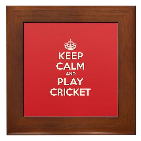 Keep Calm Play Cricket Framed Tile