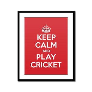 Keep Calm Play Cricket Framed Panel Print