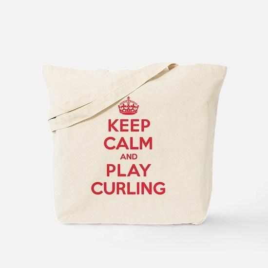 Keep Calm Play Curling Tote Bag