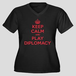 Keep Calm Play Diplomacy Women's Plus Size V-Neck
