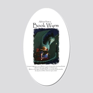 Advice from a Book Wyrm 20x12 Oval Wall Decal