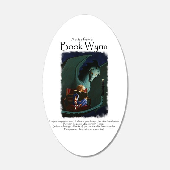 Advice from a Book Wyrm Wall Sticker