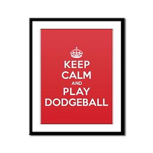 Keep Calm Play Dodgeball Framed Panel Print