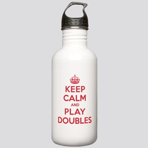 Keep Calm Play Doubles Stainless Water Bottle 1.0L