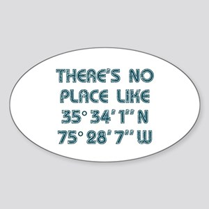 There's No Place Like the OBX Sticker (Oval)
