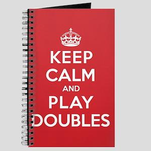 Keep Calm Play Doubles Journal