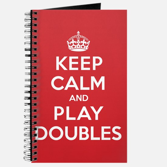Keep Calm Play Doubles Journal