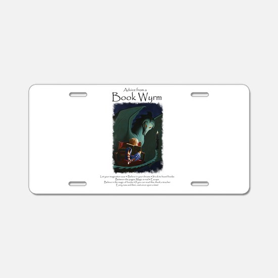 Advice from a Book Wyrm Aluminum License Plate