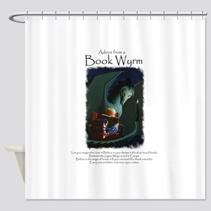 Advice from a Book Wyrm Shower Curtain