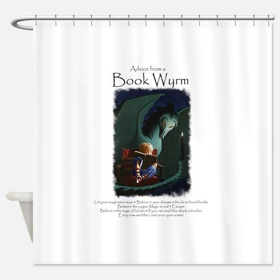 Advice from a Book Wyrm Shower Curtain