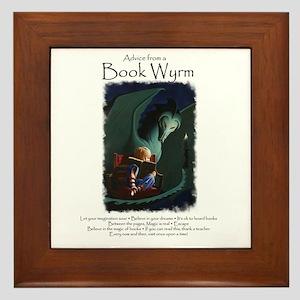 Advice from a Book Wyrm Framed Tile