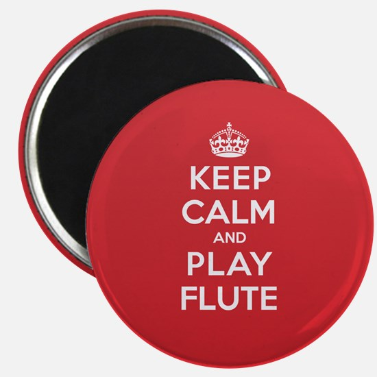 Keep Calm Play Flute Magnet