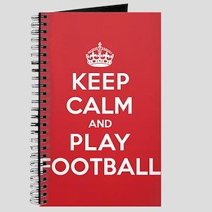 Keep Calm Play Football Journal