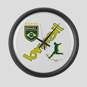 Brasil World Cup Soccer Large Wall Clock