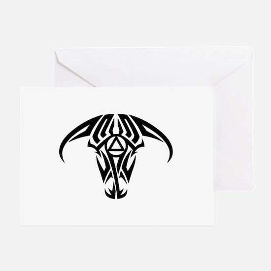 A.A. Logo Taurus B&W - Greeting Card