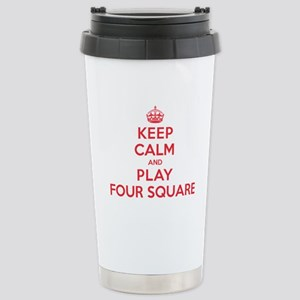 Keep Calm Play Four Square Stainless Steel Travel