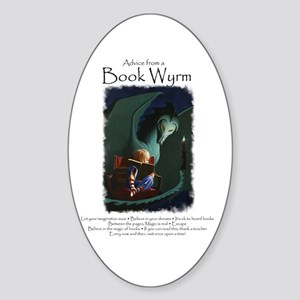 Advice from a Book Wyrm Sticker (Oval)