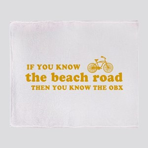 If You Know the Beach Road Throw Blanket