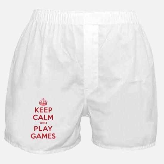 Keep Calm Play Games Boxer Shorts