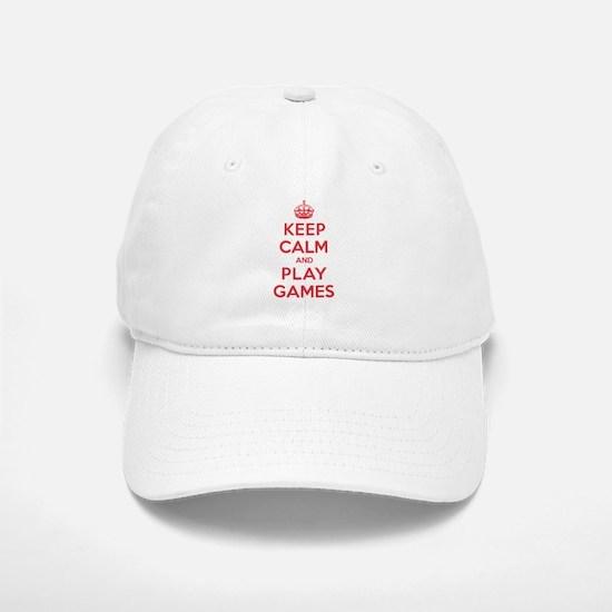 Keep Calm Play Games Baseball Baseball Cap