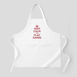 Keep Calm Play Games Apron