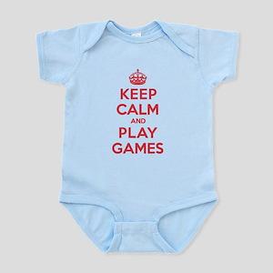Keep Calm Play Games Infant Bodysuit