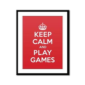 Keep Calm Play Games Framed Panel Print