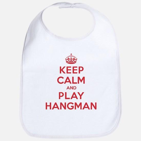 Keep Calm Play Hangman Bib